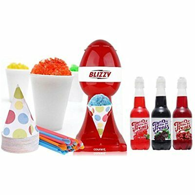 Snow Shaved Ice Machines Cone Maker Set Snow With Syrup Flavors -