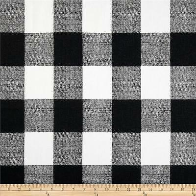 Black and White Buffalo Check Fabric, Drapery / Upholstery Plaid Fabric by - Buffalo Plaid Fabric