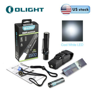 Olight M2R Warrior 1500lumen Most Powerful Pocket Tactical Flashlight w/ Battery