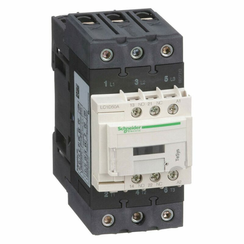 Schneider Electric LCID50A IEC Contactor,600V, 50A, 24VAC, NEW!