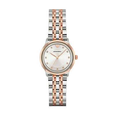 Emporio Armani Alpha AR1962 Rose Gold/Silver Quartz Women's Watch