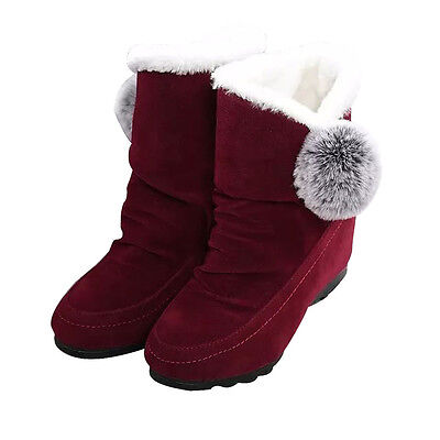 Fashion Women Ankle Boots Winter Shoes Warm Suede Flats Casual Shoes  USPS 3