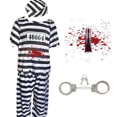 Kinder Jungen Zombie Gefangener Kostüm - Gefangener Kostüm Halloween