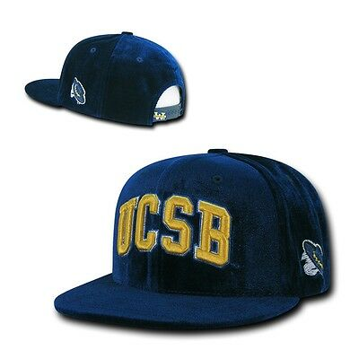 NCAA Ucsb UC Santa Barbara Gruchos Velvet Snapback Baseballkappen Hut Marineblau