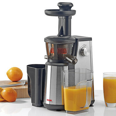 Hotpoint Slow Juicer 400 Watt Silver : 400W Masticating Slow Juicer Pro Whole Fruit vegetable Juice Extractor Press