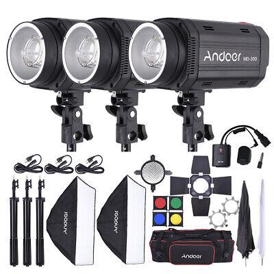 Andoer Photo Video Studio Photography Lighting Kit+Light Stand +Softbox Umbrella