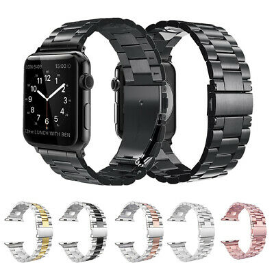Replacement For Apple Watch Series 4 3 2 1 Bracelet Strap Metal Band 40mm 44mm