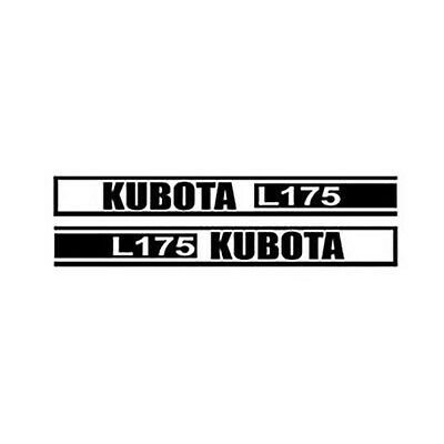 Kl175 Hood Decal Set Fits Kubota Tractor Model L175
