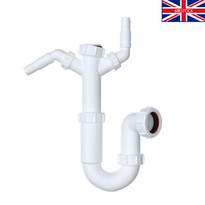 Viva Sink Waste  Trap with Double Spigot Branch for Washing Machine Dish Waster