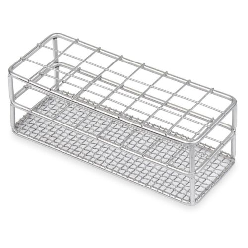 Stainless Steel Test Tube Rack, 25mm, 24 Place, Karter Scientific - 234O3