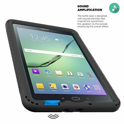Poetic Turtle Skin Grip Corner/Bumper Case For Samsung Galaxy Tab A 8.0 Black