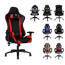 Chaise de Bureau Gaming Ordinateur Chaise Confortables Réglable Ergonomiques PU