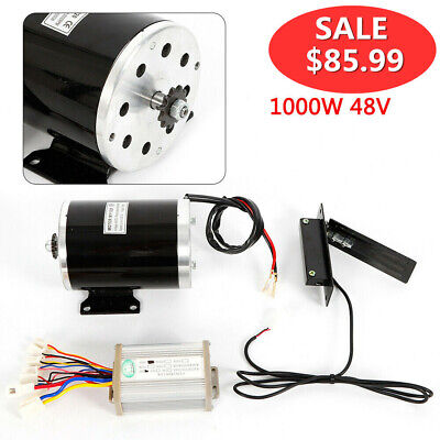 11 Teeth Sprocket 1020 Type 1000 W 48v Dc Electric Motor Kit Control Box Usa