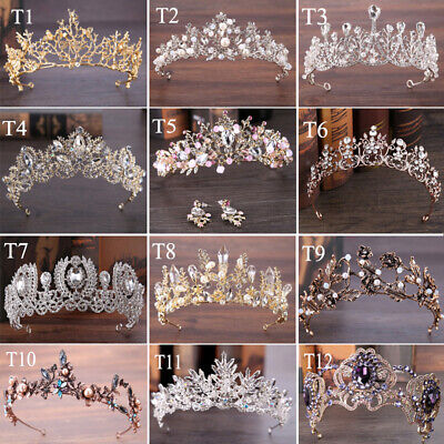 Vintage Baroque Crown Handmade Queen Princess Tiara Hair Accessories - Queen Tiara