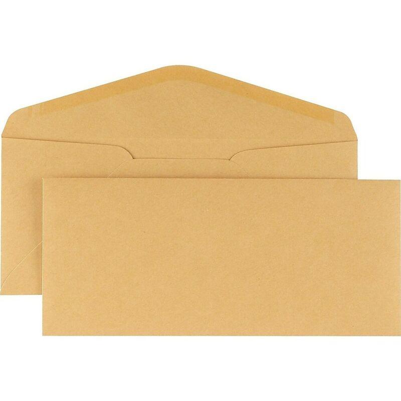 Staples Kraft Gummed Envelopes #11 Brown 500/Box 535153