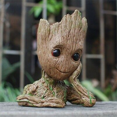 For Guardians Of The Galaxy Baby Groot Flowerpot Pen Pot Figure Birthday GiftToy