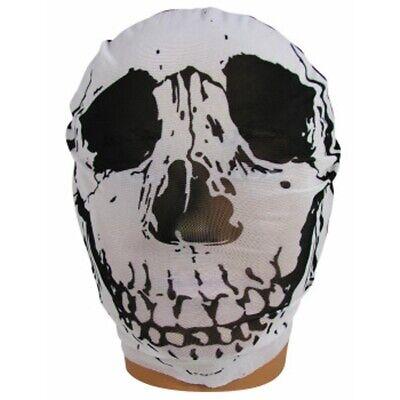 Skull See-Thru Hooded Mask Death Skeleton Adult Halloween Costume - See Thru Halloween Costumes
