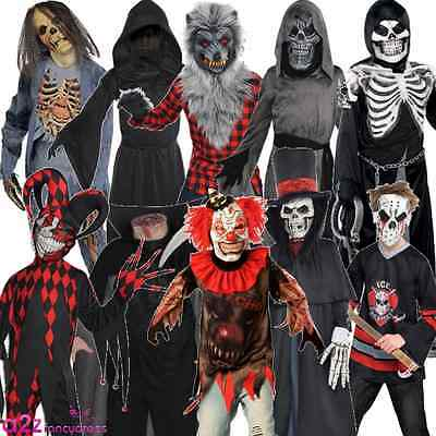 Clown Zombie Halloween (TEEN BOYS HALLOWEEN CLOWN ZOMBIE 8-16 YEARS SCARY FANCY DRESS COSTUME)