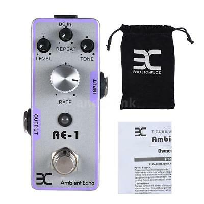 ENO Electric Guitar Ambient Echo Effect Pedal Full Metal Shell True Bypass R5Z6