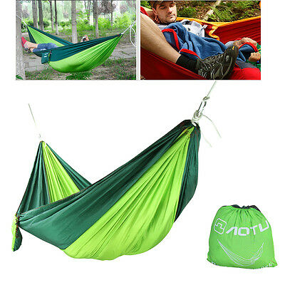 Hot Sale Rainbow Outdoor Leisure Double Canvas Hammocks Ultralight Camping Hammock With Backpack Up-To-Date Styling Hammocks