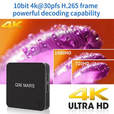 Q96 Android 7.1 Smart TV Box S905W Quad Core UHD 4K H.265 1GB/8GB 2.4G WiFi N8W7