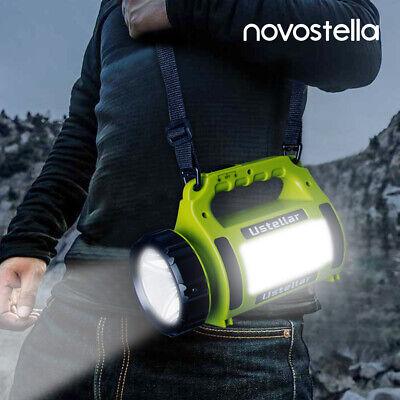 Novo Rechargeable LED Flashlight Camping Lantern Searchlight Spot light Torch - Led Lantern Lights