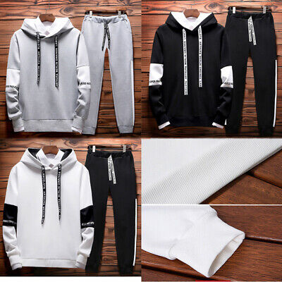Men's Tracksuit Sport Suit Hoodie Sweater Sweatshirt Pullover Jacket Pant Set