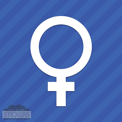 Female Venus Gender Symbol Vinyl Decal Sticker