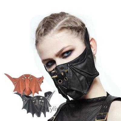 Plague Steampunk Half Face Mask Cosplay Gothic Halloween Pumpkin Costume Party
