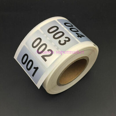 1000 Labels 1.570.78 Consecutive Number Inventory Stickers Silver Waterproof