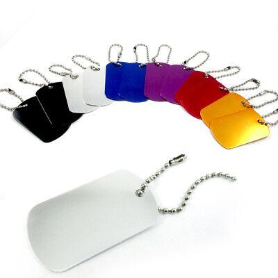 Wholesale Dog Tags (48 Military GI Dog Tags Anodized Aluminum Engravable Blanks Wholesale Chain)