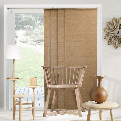 Blinds For Sliding Glass Doors Vertical Adjustable Drapes Patio Fabric 80 x 96