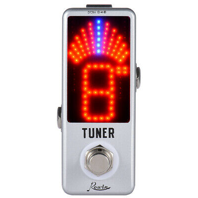 Chromatic Tuner Pedal Effect LED Display True Bypass for Guitar Bass J3Y2
