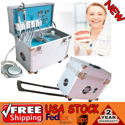 Dental Portable Delivery Unit Rolling Case Air Compressorscalercuring Light