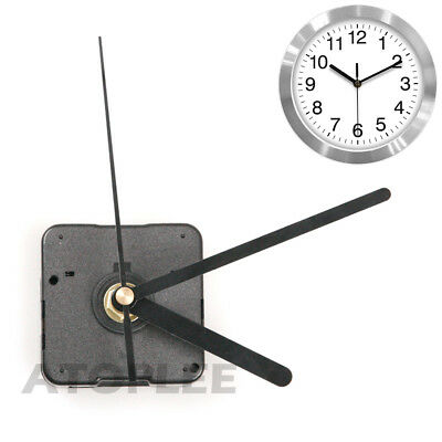 Quartz Wall Clock Movement Mechanism Black Metal Pointer DIY Repair Parts Kit 1X