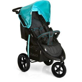 XDISPLAY OUT OF BOX HAUCK VIPER SPORTY THREE WHEEL JOGGER PUSHCHAIR PRAM BUGGY STROLLER BLUE BLACK