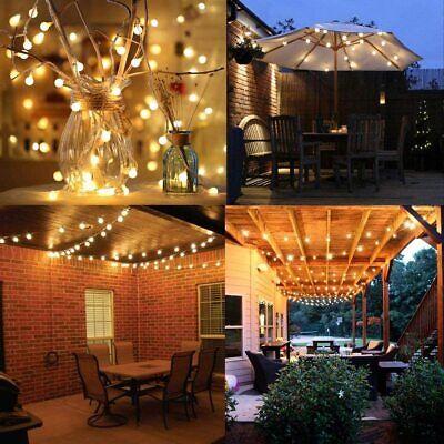 Guirnalda luces exterior 10 m 100 LEDs impermeable Cadena de luces 8...