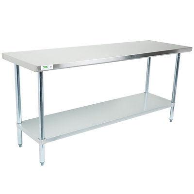 Regency 30 X 72 Stainless Steel Work Prep Table Commercial Restaurant 18 Gauge