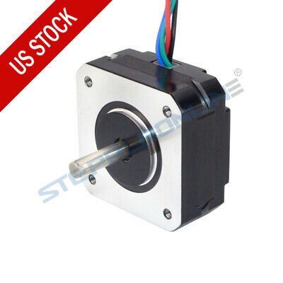 Stepperonline Short Body Nema 17 Stepper Motor 18.4oz.in 20mm Bipolar 1a 4-wire
