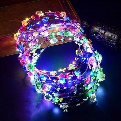 Tourist For Women Girls Hair Accessories LED Light Glowing Wreath Headwear - Glow Accessories