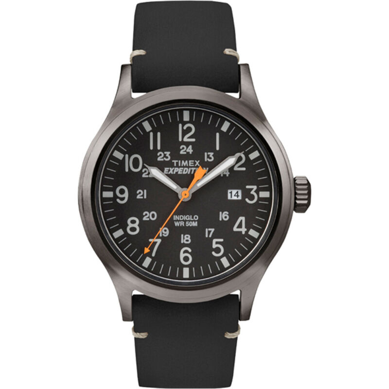 Timex Expedition Metal Scout - Black Leather/Black Dial  (TW4B019009J)