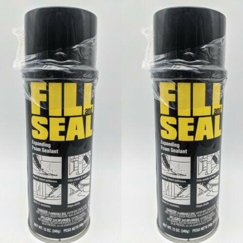 "(2 CANS) - Dow Fill & Seal - Spray Foam Can 12 OZ. Fill up to 3"" Gaps"