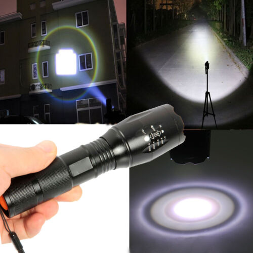 10000LM 5Modes LED Flashlight Zoomable 18650/AAA Focus Torch Light