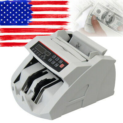 Bill Counter Money Counting Cash Machine Counterfeit Detector Uv Mg Bank Lcd A