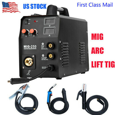 3in1 Mig Welder 200a Inverter Dc Arc Stick Lift Tig Mig Welding Machine 220v