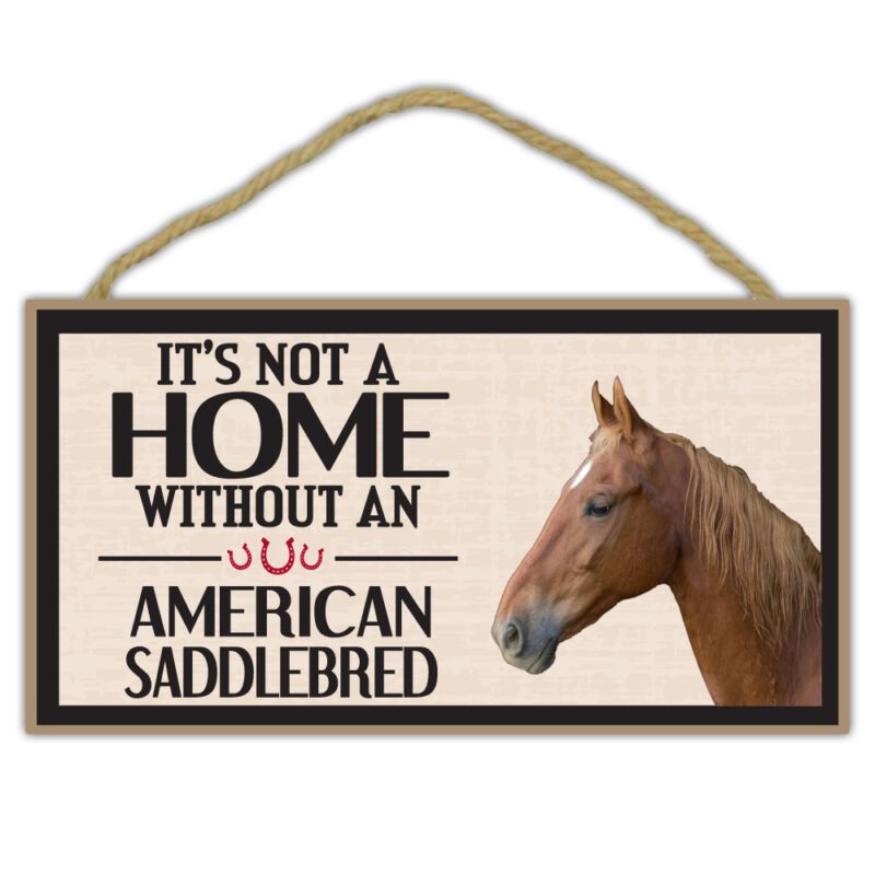 Wooden Decorative Horse Sign - It