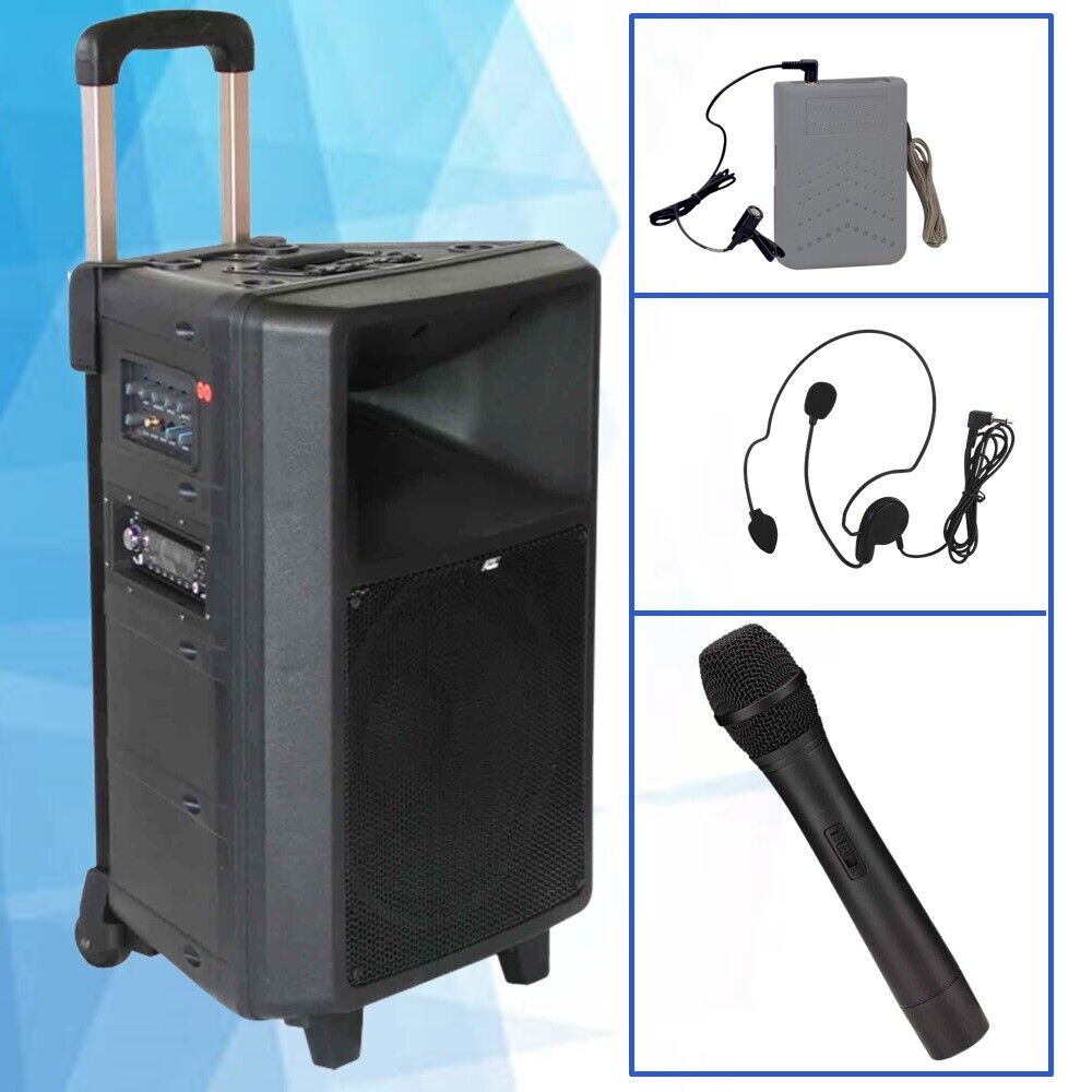 Portable PA System Audio2000'S AWP6404 Speaker-Microphone-