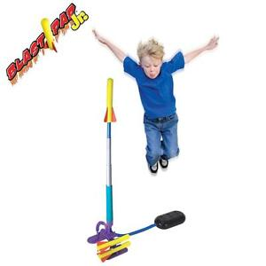 Blast Pad Junior Childrens/Kids Soft Dart Air Powered Stomp Rocket Launcher Kit