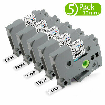 5x Tze-231 Compatible Brother P Touch Tz Label Tape 12mm Fit Brother Label Maker