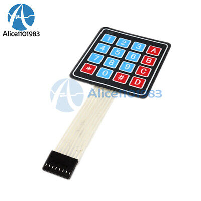 10pcs 4 X 4 Matrix Array 16 Key Membrane Switch Keypad Keyboard For Arduino Avr